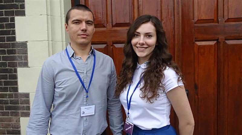 Zane Svikle and Nikola Panic